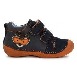 D.D.step Chlapčenské členkové topánky s líškou - modro-oranžové