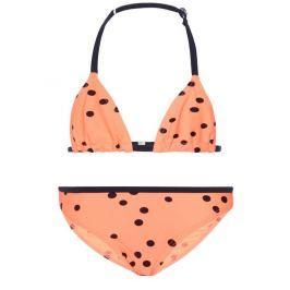 Name it Dievčenské dvojdielne plavky s bodkami - oranžové