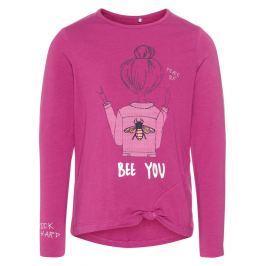 Name it Dievčenské tričko Bee you - ružové
