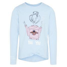 Name it Dievčenské tričko Bee you - svetlo modré