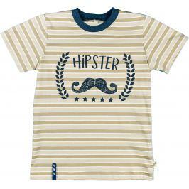 MMDadak Chlapčenské tričko Young Hippster - béžové