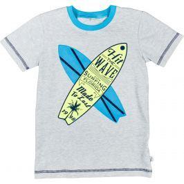 MMDadak Chlapčenské tričko Surf - sivé