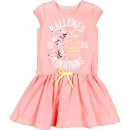MMDadak Dievčenské šaty Fluo - ružové