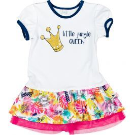MMDadak Dievčenské šaty Little Jungle - farebné