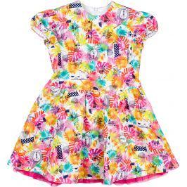 MMDadak Dievčenské šaty s potlačou Little Jungle - farebné