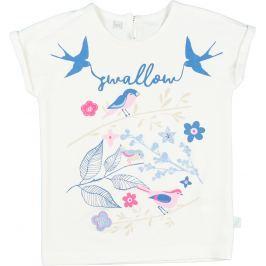 MMDadak Dievčenské tričko s lastovičkami - biele