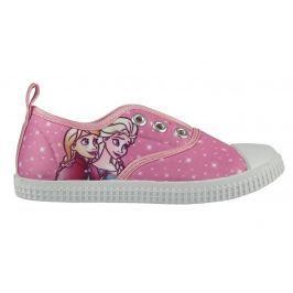 Disney Brand Dievčenské plátené tenisky Frozen - ružové