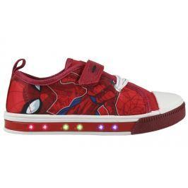 Disney Brand Chlapčenské blikacie tenisky Spiderman - červené