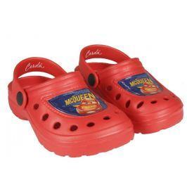 Disney Brand Chlapčenské gumové sandále Cars - červené