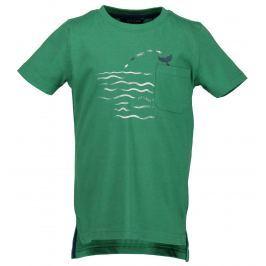 Blue Seven Chlapčenské tričko so žralokmi - zelené