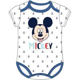 E plus M Detské body Mickey Mouse s kotvami - biele