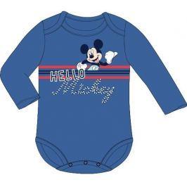 E plus M Chlapčenské body Mickey Mouse - modré