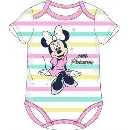 E plus M Dievčenské prúžkované body Minnie - farebné