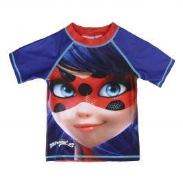 Disney Brand Dievčenské plavecké tričko Ladybug - modré