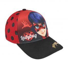 Disney Brand Dievčenské šiltovka Ladybug - červeno-čierna