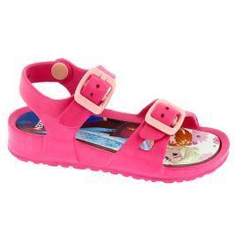 Disney by Arnetta Dievčenské gumové sandále Frozen - ružové