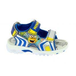 Disney by Arnetta Chlapčenské sandále Mimoni - modro-žlté