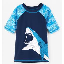 Hatley Chlapčenské plavecké tričko so žralokom UV 50+ - modré