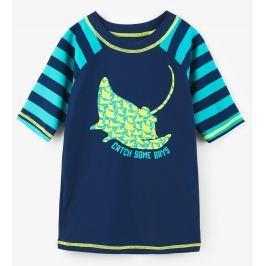 Hatley Chlapčenské plavecké tričko s rajou UV 50+ - modré