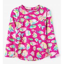 Hatley Dievčenské plavecké tričko s rybičkami UV 50+ - ružové