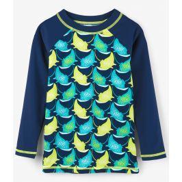 Hatley Chlapčenské plavecké tričko s rajami UV 50+ - modré