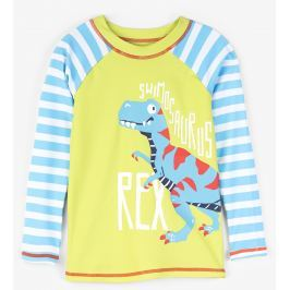 Hatley Chlapčenské plavecké tričko s dinosaurom UV 50+ - farebné