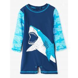 Hatley Chlapčenský plavecký overal so žralokom UV 50+ - modrý