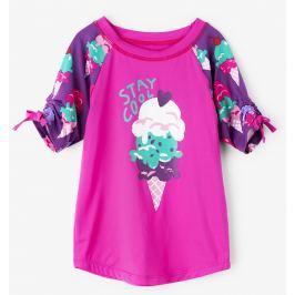 Hatley Dievčenské plavecké tričko so zmrzlinou UV 50+ - ružové