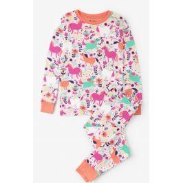 Hatley Dievčenské pyžamo s koníkmi - farebné