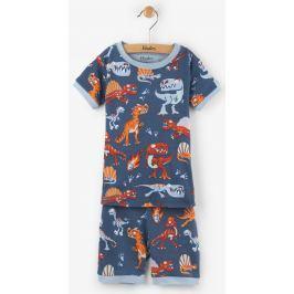 Hatley Chlapčenské letné pyžamo s dinosaurami - modré