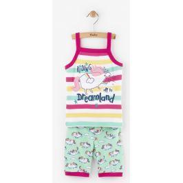 Hatley Dievčenské letné pyžamo s jednorožcom - farebné