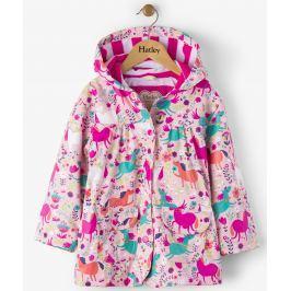 Hatley Dievčenský nepremokavý kabát s koníkmi - farebný