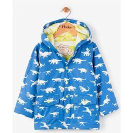 Hatley Chlapčenský nepremokavý kabát meniaci farbu s dinosaurami - modrý