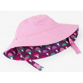 Hatley Dievčenské obojstranný klobúčik so zmrzlinami UV 50+ - ružový