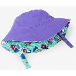 Hatley Dievčenský obojstranný klobúčik UV 50+ - fialový
