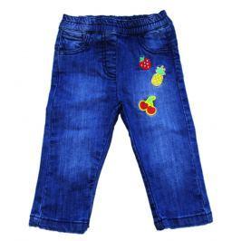 Carodel Dievčenské riflové nohavice s nášivkami - svetlo modré