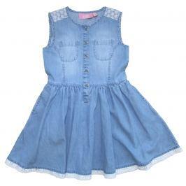 Carodel Dievčenské riflové šaty - modré