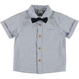 Name it Chlapčenská košeľa s motýlikom - modrá