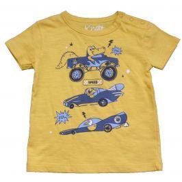 Carodel Chlapčenské tričko s krokodílom - žlté