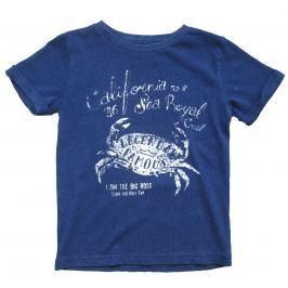 Carodel Chlapčenské tričko s krabom - tmavo modré