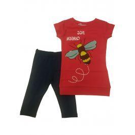 Carodel Dievčenská súprav trička a legín - farebný