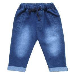 Carodel Chlapčenské nohavice s džínsovým efektom- modré