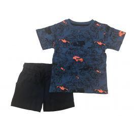 Carodel Chlapčenský komplet trička a kraťasov - modrý