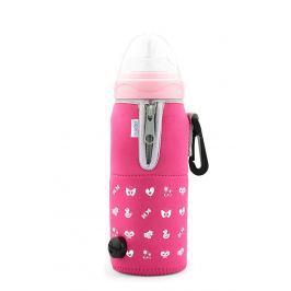Nuvita Cestovný ohrievač fľaše so zipsom Pink