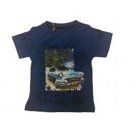 Carodel Chlapčenské tričko s autom - modré
