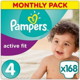 Pampers Plienky Premium Protection Active Fit 4 Maxi 168 ks