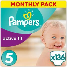Pampers Plienky Premium Protection Active Fit 5 Junior 136 ks