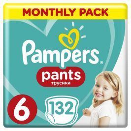 Pampers Plienkové nohavičky Pants 6 Mesačné balenie 132 ks