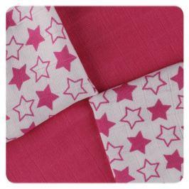 XKKO Bambusové obrúsky 30x30 Little Stars Magenta MIX (9ks)