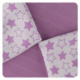 XKKO Bambusové obrúsky 30x30 Little Stars Lilac MIX (9ks)